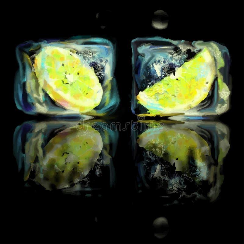 Fetta congelata del limone royalty illustrazione gratis
