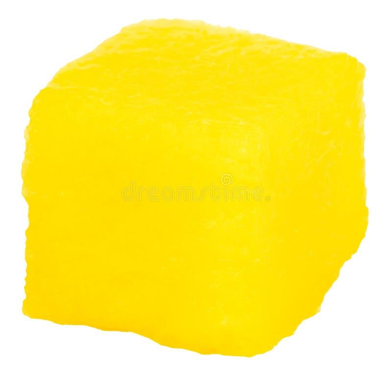 Fetta del cubo del mango isolata sui precedenti bianchi immagini stock libere da diritti