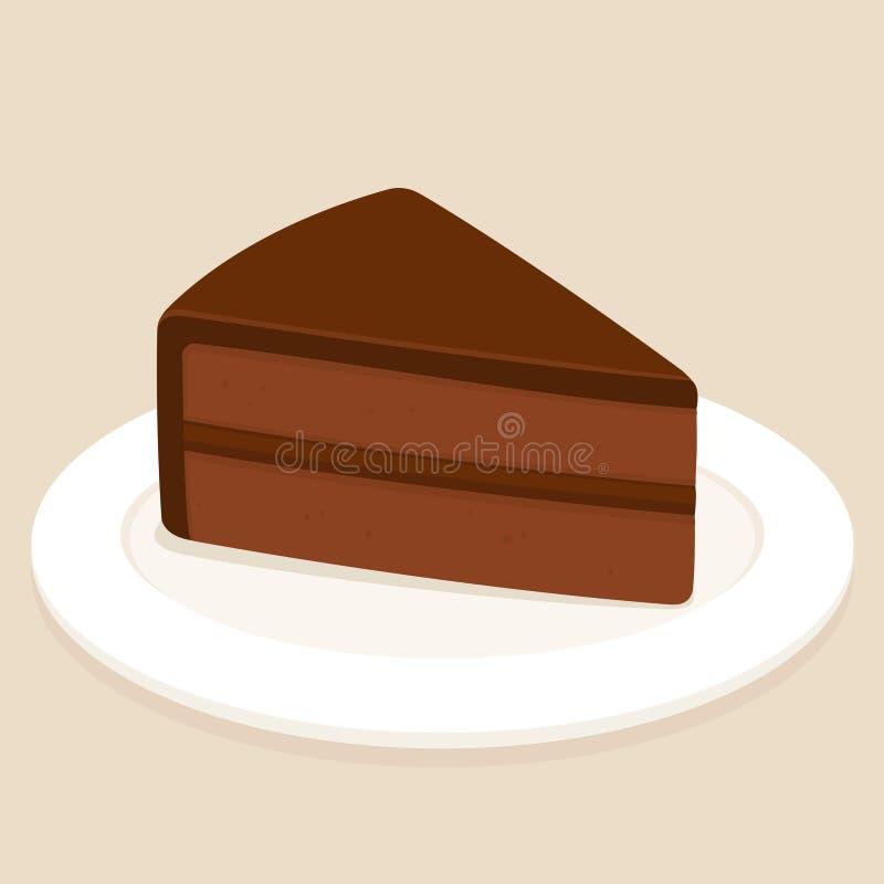 Fetta del dolce di cioccolato royalty illustrazione gratis