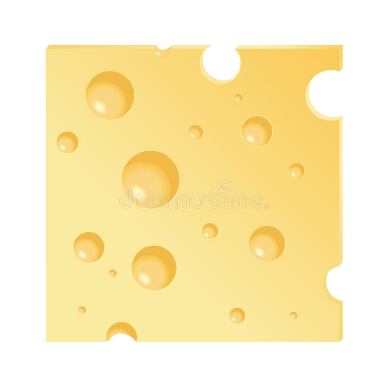 Fetta del formaggio illustrazione di stock