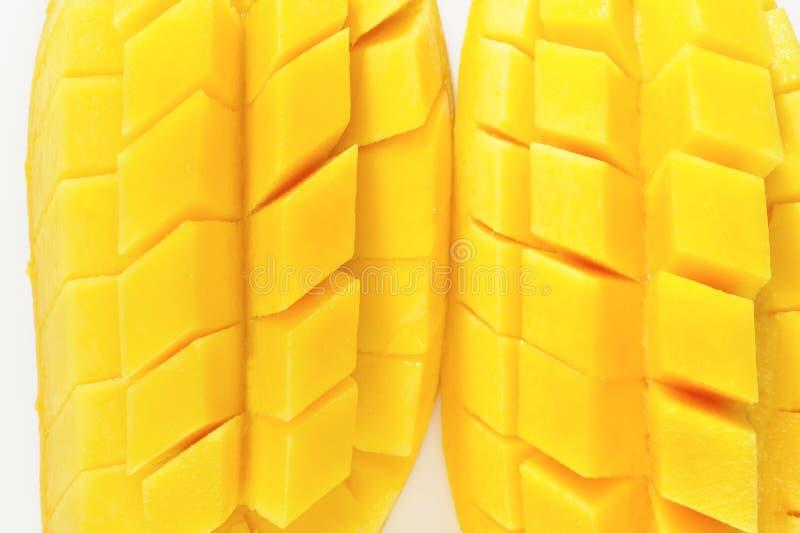 Fetta del mango fotografia stock