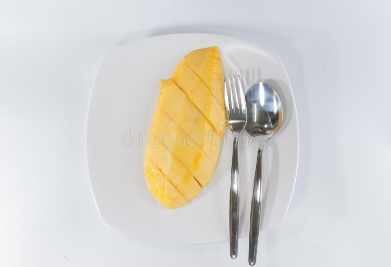 Fetta del mango fotografie stock