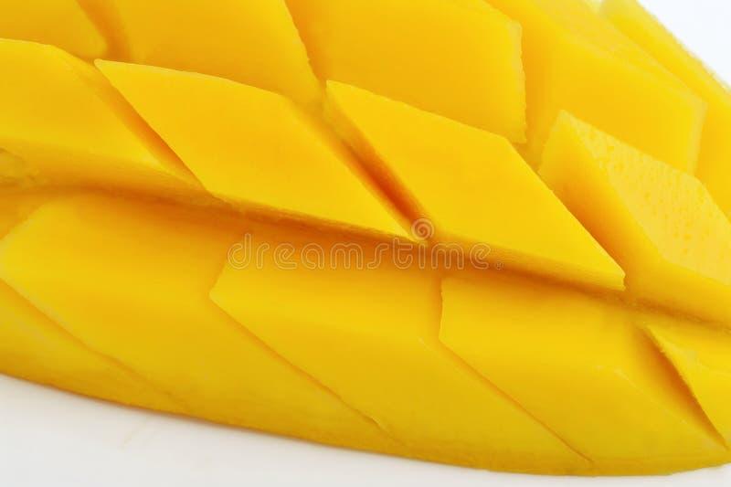 Fetta del mango su fondo bianco fotografia stock