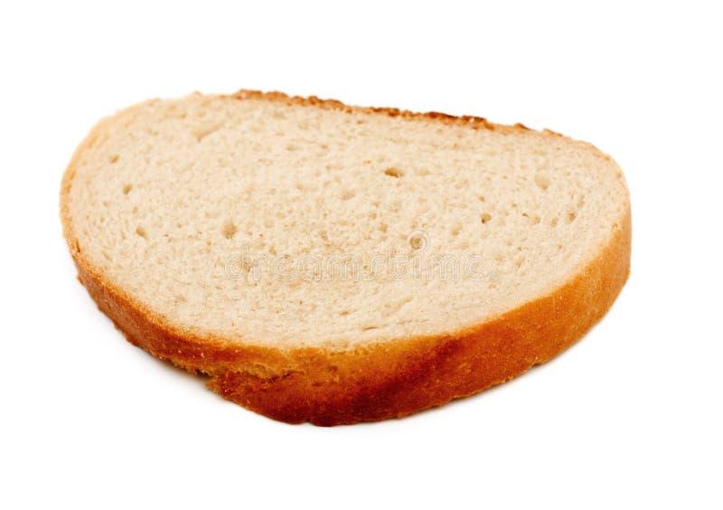 Fetta del pane bianco fotografia stock libera da diritti