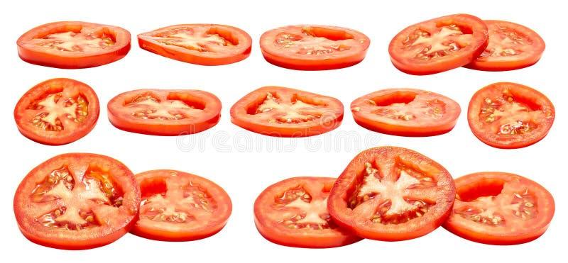 Fetta del pomodoro isolata immagine stock