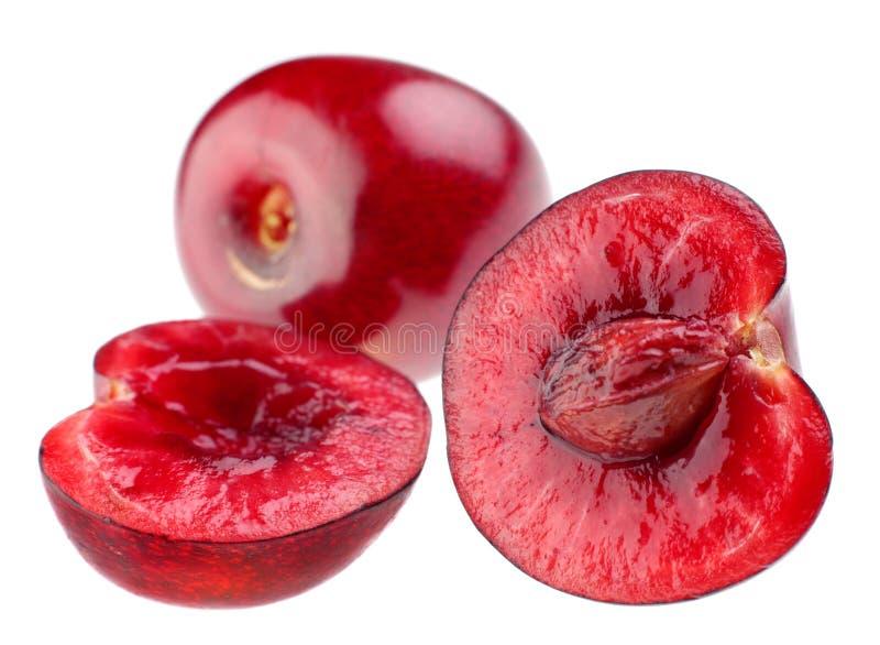 Fetta della ciliegia immagine stock