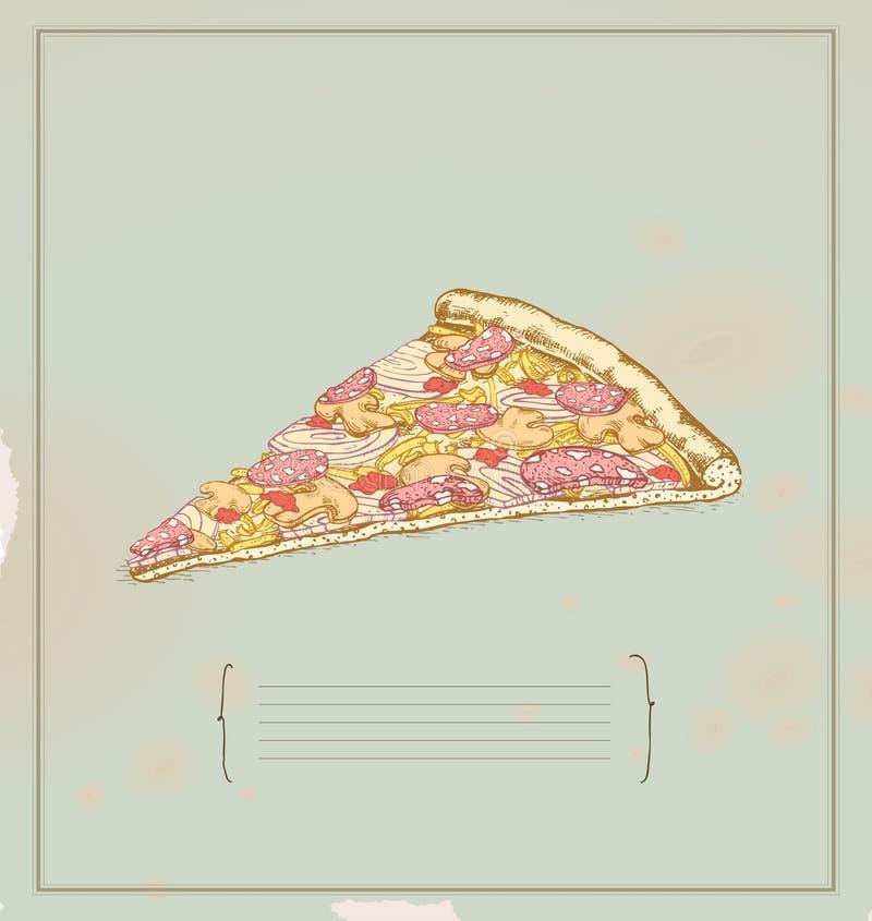 Fetta della pizza royalty illustrazione gratis