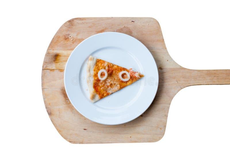 Fetta della pizza dei frutti di mare immagine stock libera da diritti