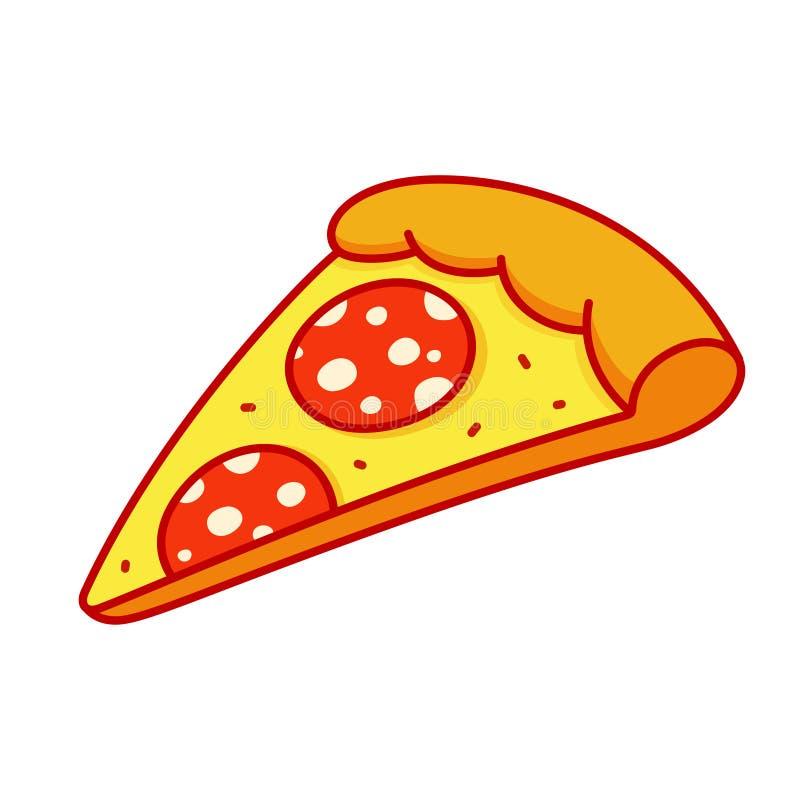 Fetta della pizza di merguez royalty illustrazione gratis