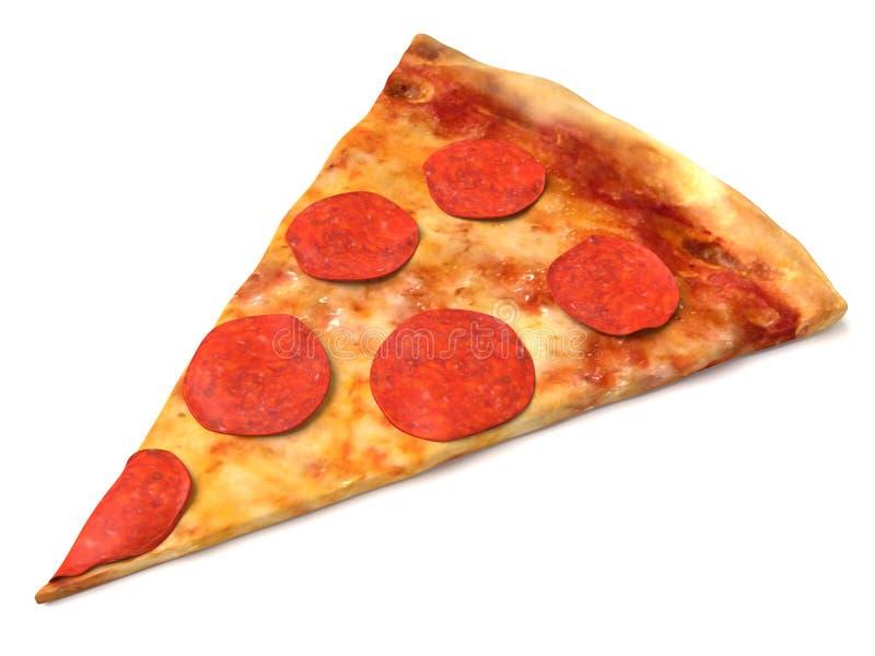 Fetta della pizza di merguez illustrazione di stock