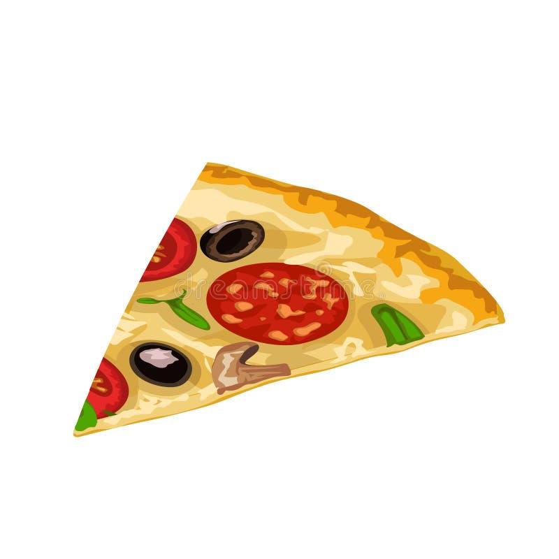 Fetta della pizza isolata royalty illustrazione gratis