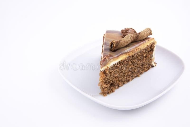 Fetta della torta del Mocha immagine stock libera da diritti
