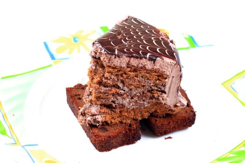 Fetta della torta della foresta nera fotografia stock