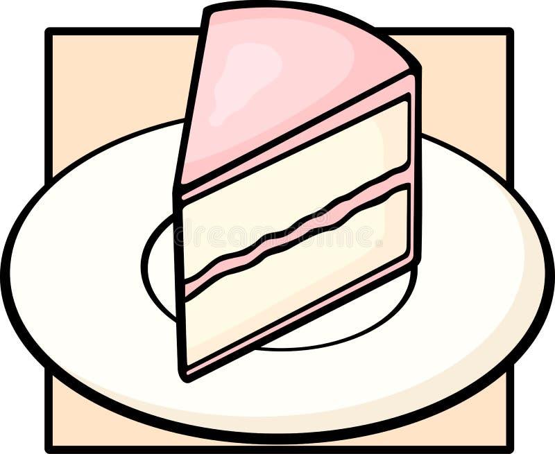 Fetta della torta in piatto royalty illustrazione gratis