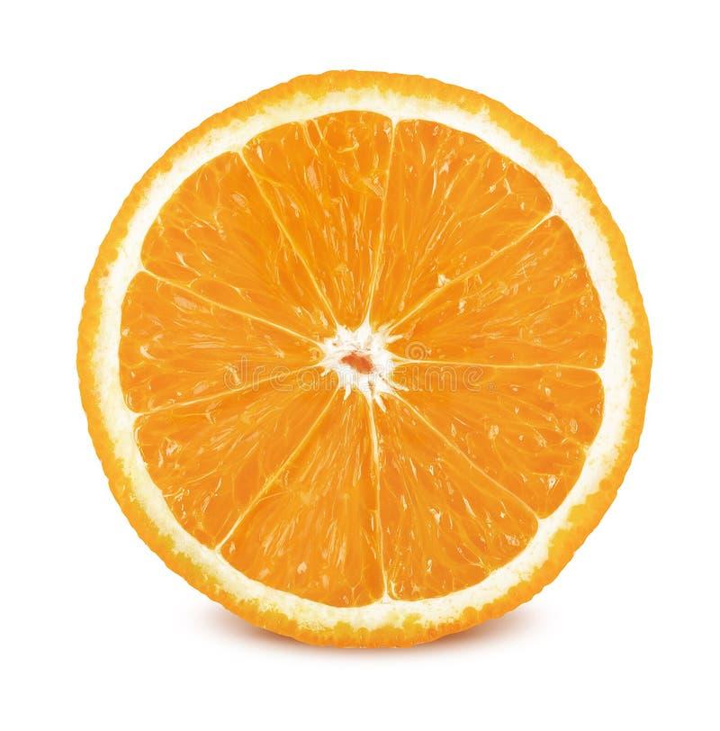 Fetta di arancia su fondo bianco immagine stock