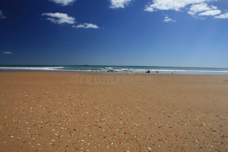 Fetta di colori su una spiaggia tasmaniana immagine stock