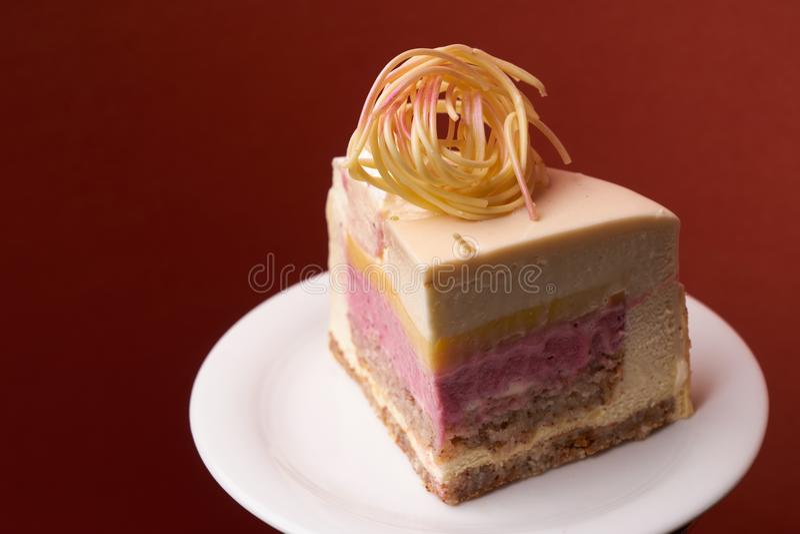 Fetta di dolce del dessert di Dilite fotografie stock libere da diritti