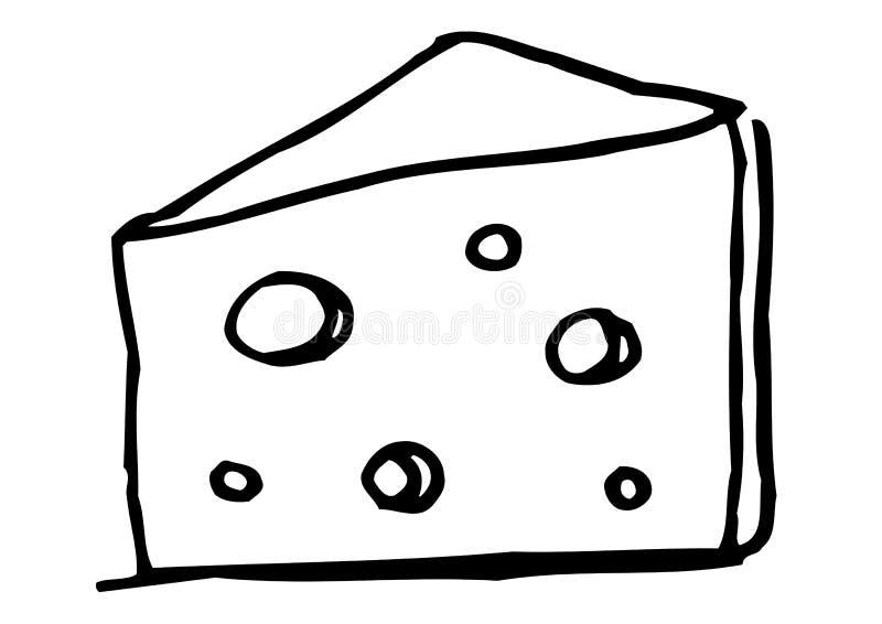 Fetta di formaggio illustrazione di stock