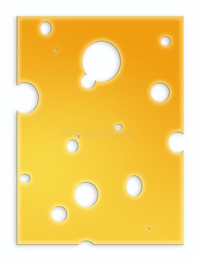 Fetta di formaggio svizzero illustrazione vettoriale