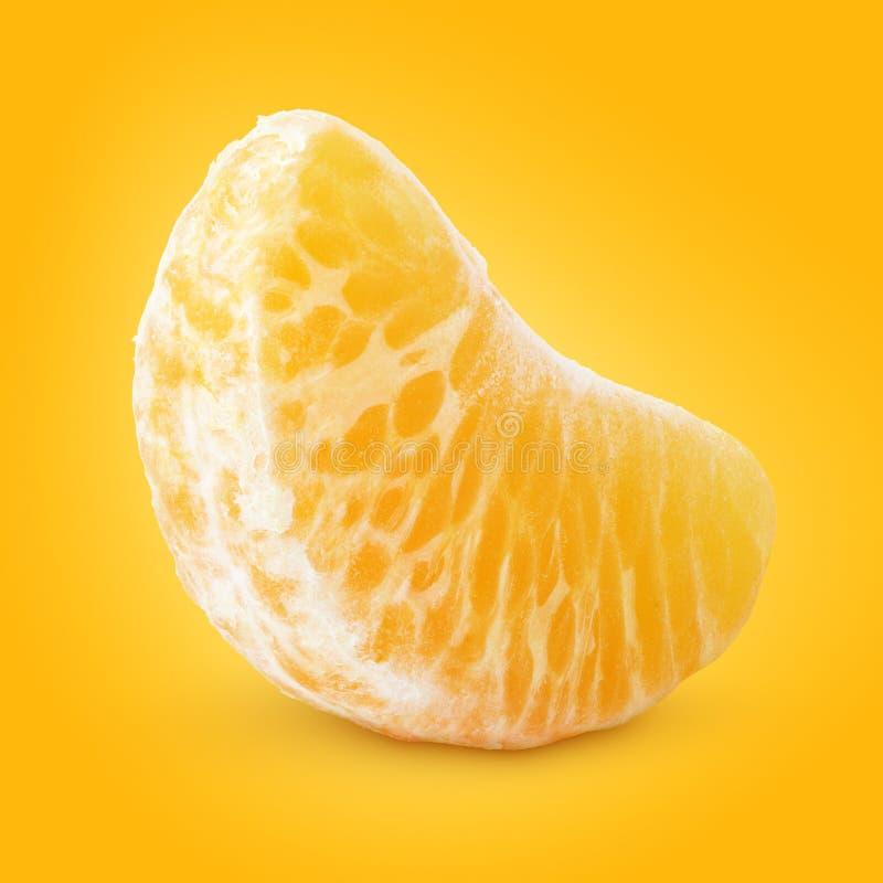 Fetta di frutta del mandarino (mandarino) fotografia stock libera da diritti