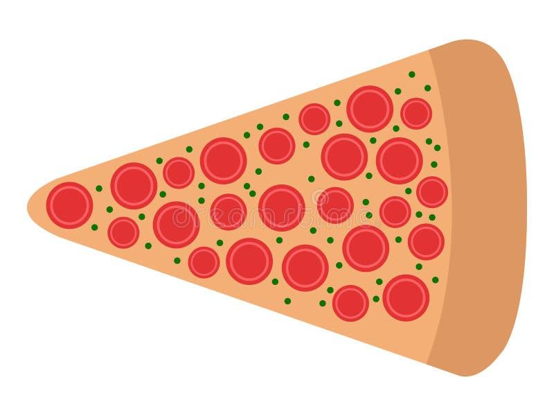 Fetta di icona della pizza illustrazione vettoriale