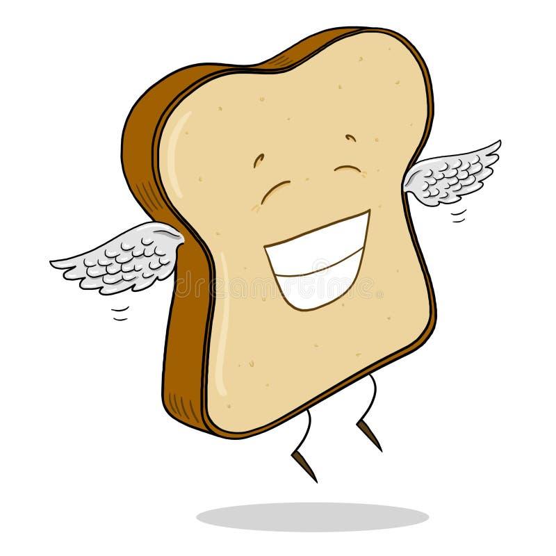 Fetta di pane leggero illustrazione vettoriale