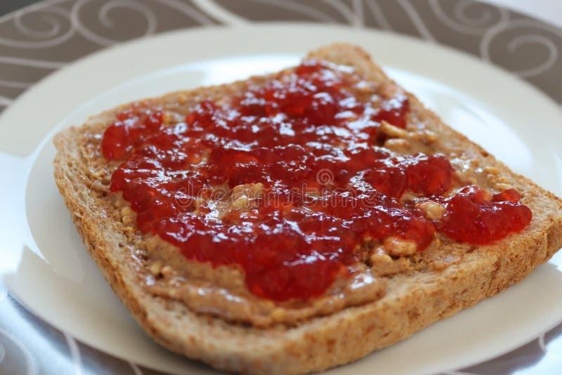 Fetta di pane per una prima colazione fotografie stock libere da diritti