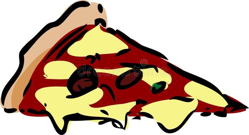 Fetta di pizza illustrazione di stock