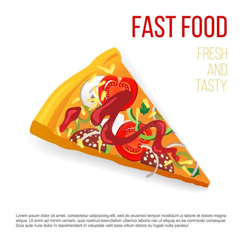 Fetta di pizza royalty illustrazione gratis