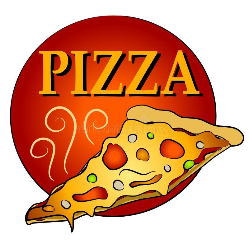 Fetta di pizza calda Clipart illustrazione vettoriale