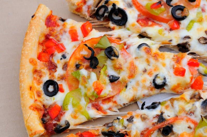 Fetta di pizza del fungo fotografie stock