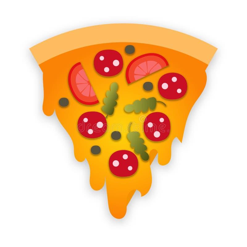 Fetta di pizza illustrazione vettoriale