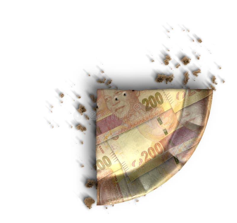Fetta di Rand Money Pie sudafricano immagini stock