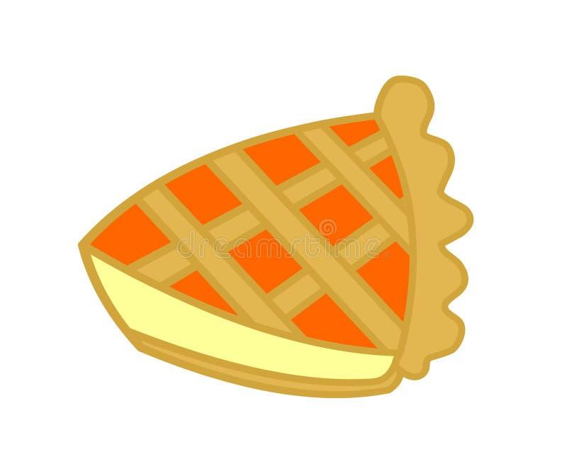 Fetta Di Torta Dell Ostruzione Arancione Fotografia Stock