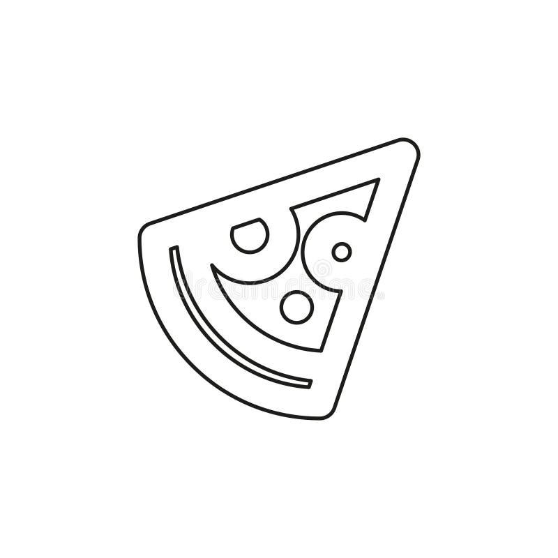 Fetta di vettore di pizza - icona italiana veloce dell'alimento illustrazione vettoriale