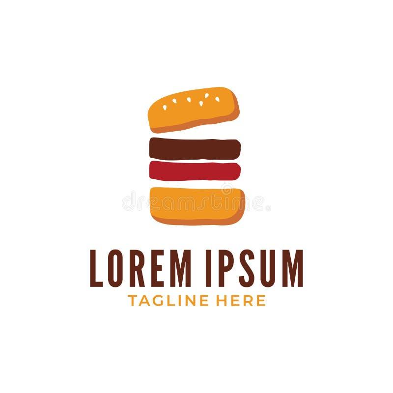 Fetta felice dell'hamburger illustrazione vettoriale