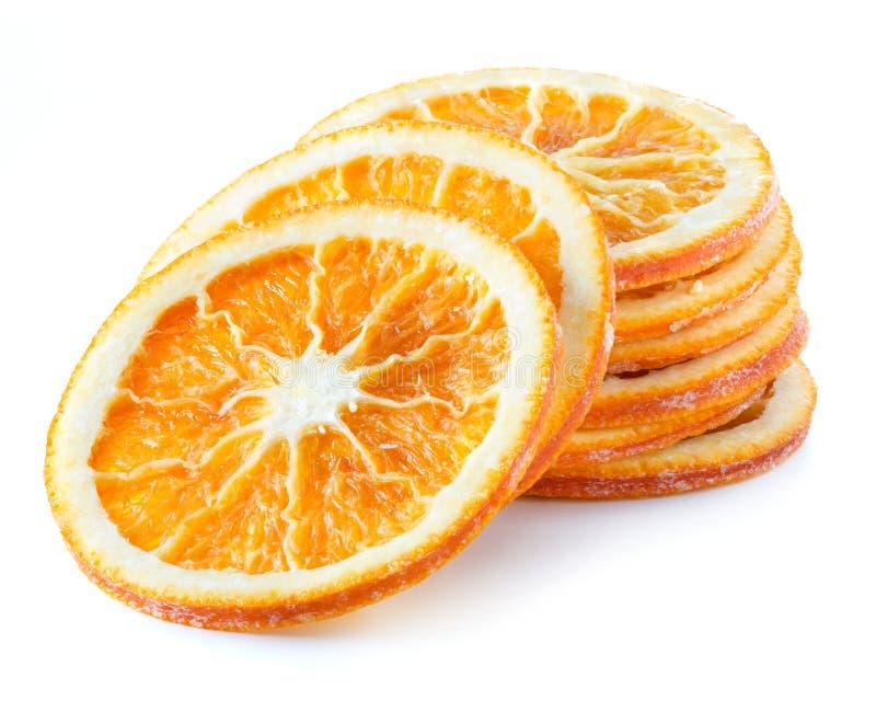 Fette arancio secche sotto forma della torre di caduta fotografie stock