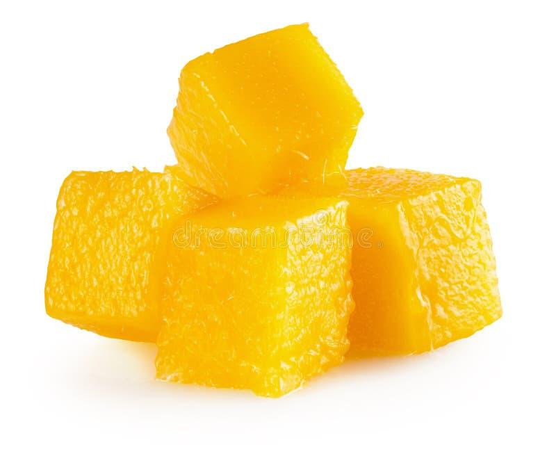 Fette del cubo del mango isolate sui precedenti bianchi fotografie stock libere da diritti