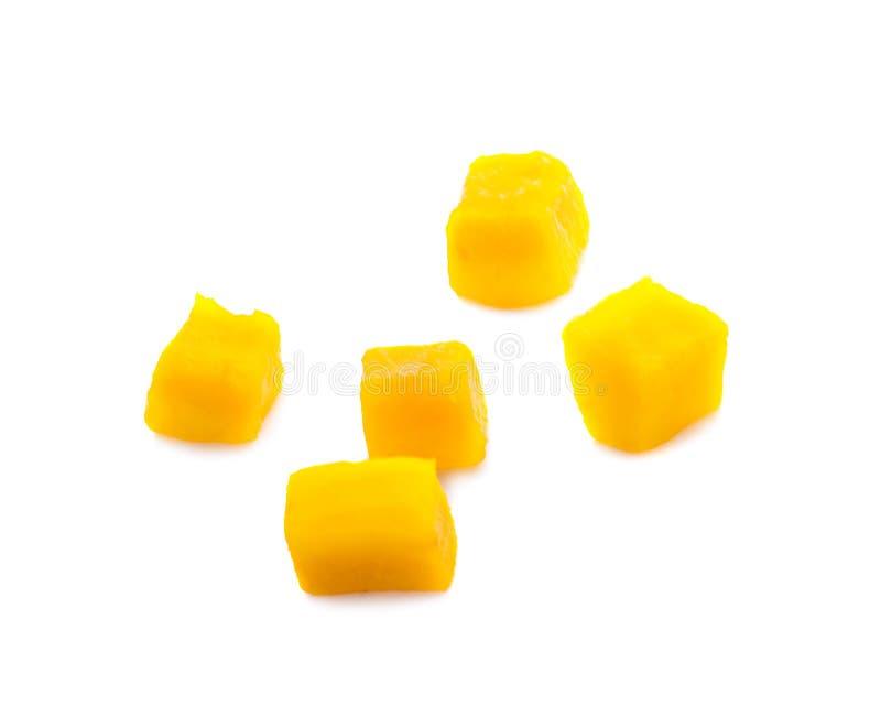 Fette del cubo del mango isolate sui precedenti bianchi fotografia stock libera da diritti