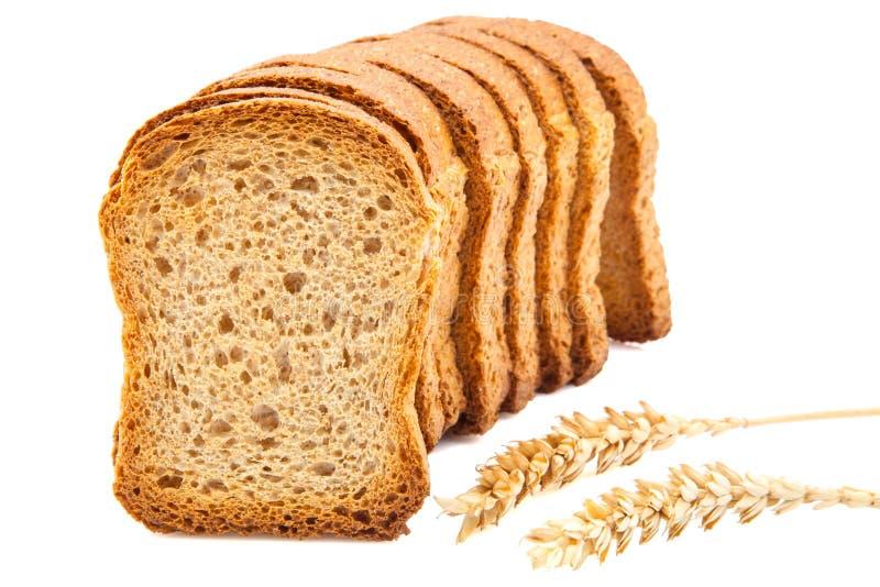 Fette del pane tostato fotografia stock