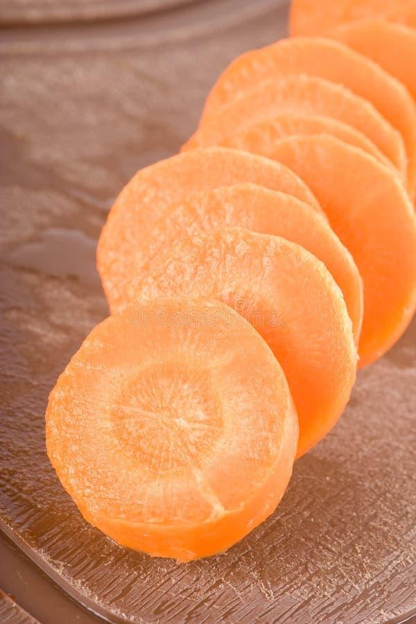 Fette della carota fotografia stock