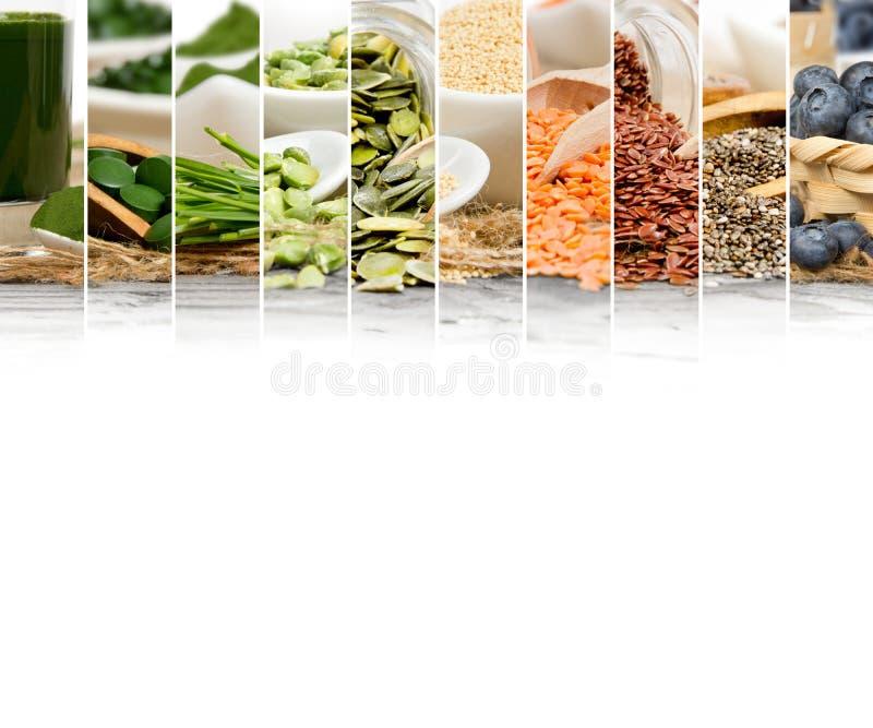 Fette della miscela di Superfood immagine stock