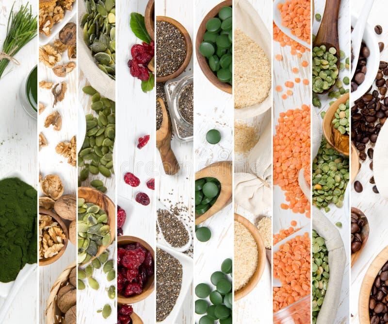 Fette della miscela di Superfood fotografia stock libera da diritti