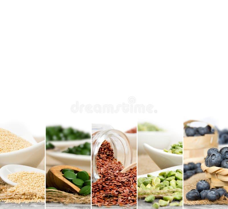 Fette della miscela di Superfood fotografia stock