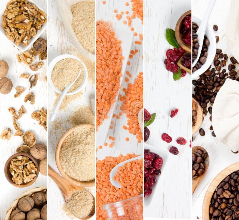 Fette della miscela di Superfood immagini stock