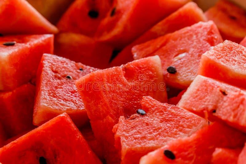 Fette di angurie rosse mature fresche fotografie stock libere da diritti