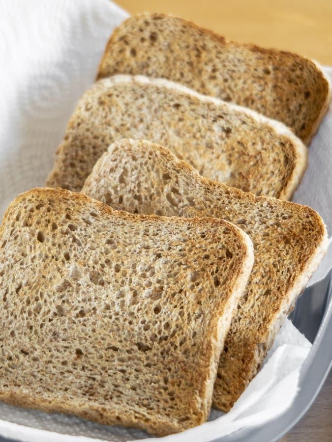 Fette di pane tostato fotografia stock