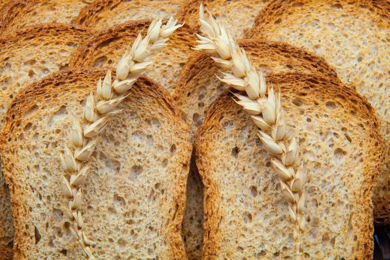Fette di pane tostato fotografie stock libere da diritti