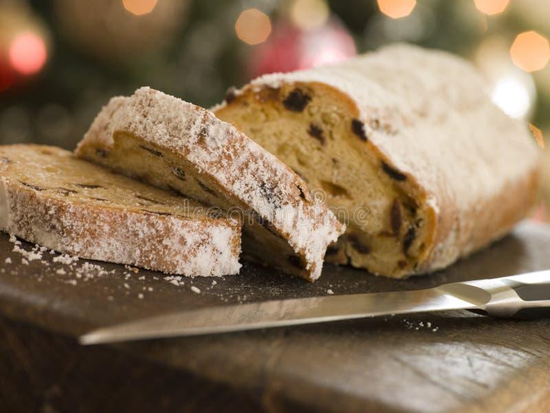 Fette di torta di Stollen fotografie stock libere da diritti