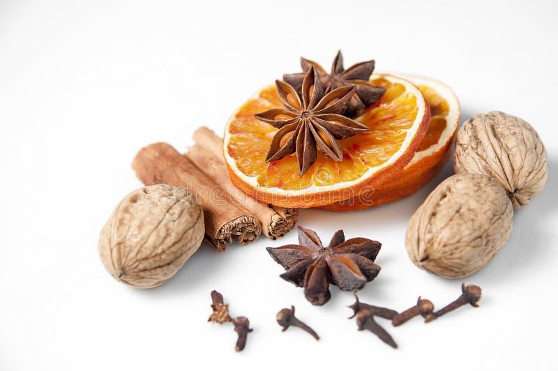 Fette e spezie arancio fotografia stock libera da diritti